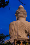 Amazing Massive white marble Buddha statue, the famous tourist a Stock Photo