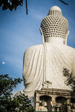 Amazing Massive white marble Buddha statue, the famous tourist a Royalty Free Stock Images