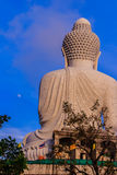 Amazing Massive white marble Buddha statue, the famous tourist a Royalty Free Stock Photos