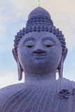 Amazing Massive white marble Buddha statue, the famous tourist a Royalty Free Stock Photo