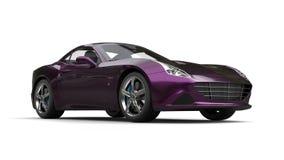 Amazing metallic purple luxury sports car - beauty studio shot Stock Photography