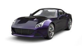 Amazing metallic purple luxury sports car - studio shot Royalty Free Stock Photo