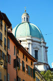 Amazing Milan Cupola of Duomo Cathedral in Brescia city, Lombardy Italy Duomo NuovoDuomo, Italy Royalty Free Stock Photography