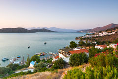 Amazing Mirabello Bay view on Crete Royalty Free Stock Image