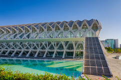 Amazing modern architecture of Science museum in Valencia, Spain Stock Photos
