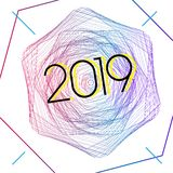 2019 amazing modern style. Is available for event in 2019 royalty free illustration