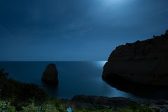 Amazing moonlit ocean Royalty Free Stock Photo