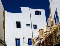 Amazing Morocco, incredible Essaouira, medina, the wall house stock image