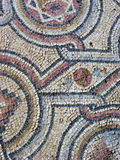 Amazing Mosaic. Mosaic outside a medieval church in Paphos, Cyprus stock photo