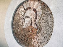 Amazing mosaic based on Ancient Rome royalty free stock photography
