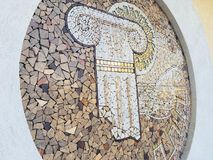 Amazing mosaic based on Ancient Rome royalty free stock photo