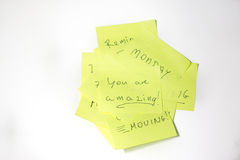 Amazing Motivational post-it Stock Image