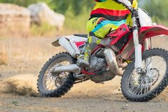 Amazing Motocross rider stock images