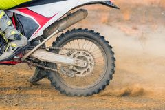 Amazing Motocross rider royalty free stock photography