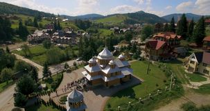 Amazing mountain aerial view, a suggestive aerial video in Karpaty mountain 4k stock video