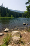 Amazing mountain lake in the summer Stock Photos