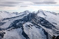 Amazing mountain scenery from Hintertux, Austria. Royalty Free Stock Photo