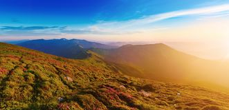 Amazing mountain sunrise Stock Photos