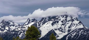 Amazing mountains in Grand Teton National Park stock photos