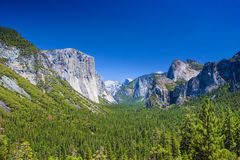 Amazing Mountains Shot from High Poing in Yosemite National Park Stock Image