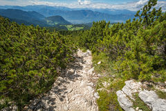 Amazing mountains summer landscape in Dolomites, South Tyrol, Italy. The Oclini Pass Stock Photography