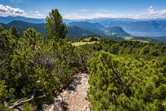 Amazing mountains summer landscape in Dolomites, South Tyrol, Italy. The Oclini Pass Stock Image