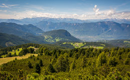 Amazing mountains summer landscape in Dolomites, South Tyrol, Italy. The Oclini Pass Royalty Free Stock Photography