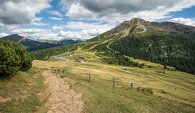 Amazing mountains summer landscape in Dolomites, South Tyrol, Italy. The Oclini Pass Royalty Free Stock Images