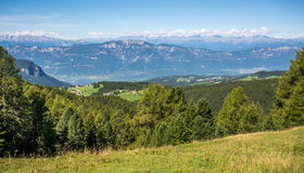 Amazing mountains summer landscape in Dolomites, South Tyrol, Italy. The Oclini Pass Royalty Free Stock Photo