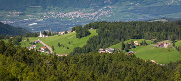 Amazing mountains summer landscape in Dolomites, South Tyrol, Italy. The Oclini Pass Stock Images