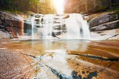 Amazing Mumlava waterfalls. In Krkonose National Park, Czech Republic Stock Photo