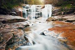 Amazing Mumlava waterfalls Royalty Free Stock Photography