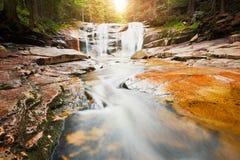Amazing Mumlava waterfalls Stock Image
