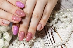 Amazing natural nails. royalty free stock photography