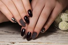 Amazing natural nails. royalty free stock photos