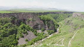Amazing natural phenomenon. The crust of the earth`s crust in the Caucasian mountains of Armenia. stock video