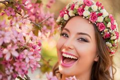 Amazing natural spring beauty. Outdoors portrait of an amazing natural spring beauty Royalty Free Stock Image