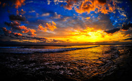 Epic Sunset in Cyprus stock photo
