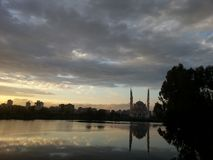 Amazing nature and mosque in Adana royalty free stock photos
