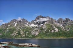 Amazing nature of the serene Norwegian Bay, Norway. The Amazing nature of the serene Norwegian Bay, Norway Stock Image