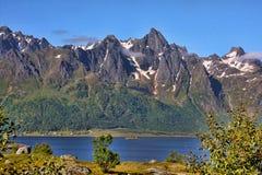 Amazing nature of the serene Norwegian Bay, Norway. The Amazing nature of the serene Norwegian Bay, Norway Stock Photos