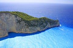 Amazing Navagio Beach in Zakynthos Island Stock Photo