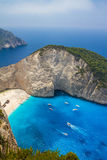 Amazing Navagio Beach in Zakynthos Island, Greece Stock Photography