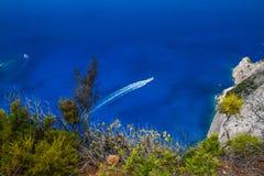 Amazing Navagio Beach in Zakynthos Island, Greece Stock Image