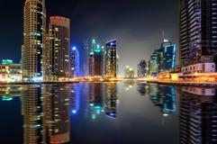 Amazing night dubai marina skyline, Dubai, United Arab Emirates Royalty Free Stock Photo