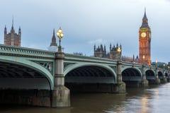 Amazing Night photo of Westminster Bridge and Big Ben, London, England Stock Image