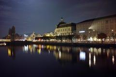 Amazing Night photos of City of Lucern and Reuss River, Switzerland Stock Image