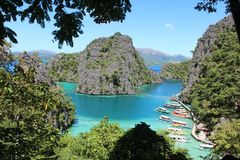 Amazing nook in Coron. stock image