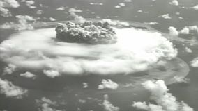 Amazing Nuclear Cloud From The Air - Vintage 16mm Film
