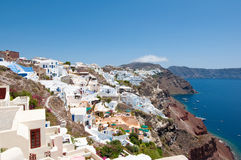 Amazing Oia architecture on the Island Santorini, Greece. Stock Image